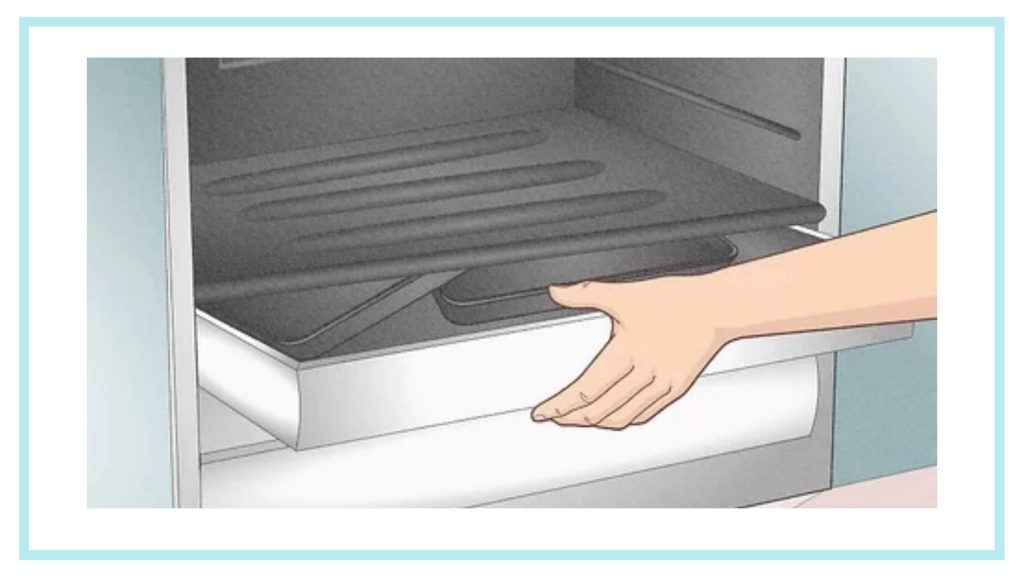 remove everything from oven drawer
